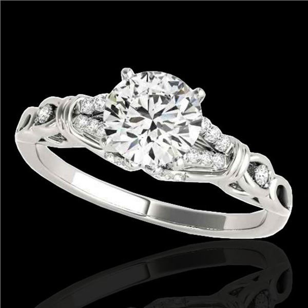 1.2 ctw Certified Diamond Solitaire Ring 10k White Gold - REF-188N2F