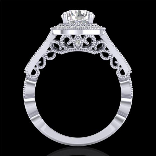 1.91 ctw VS/SI Diamond Art Deco Ring 18k White Gold - REF-543N6F