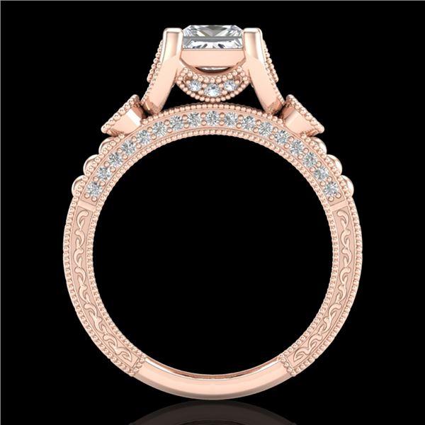 1.75 ctw Princess VS/SI Diamond Art Deco Ring 18k Rose Gold - REF-445H5R