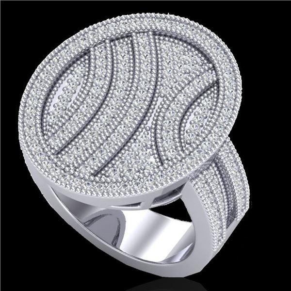 1.25 ctw Micro Pave VS/SI Diamond Ring 14k White Gold - REF-135H5R