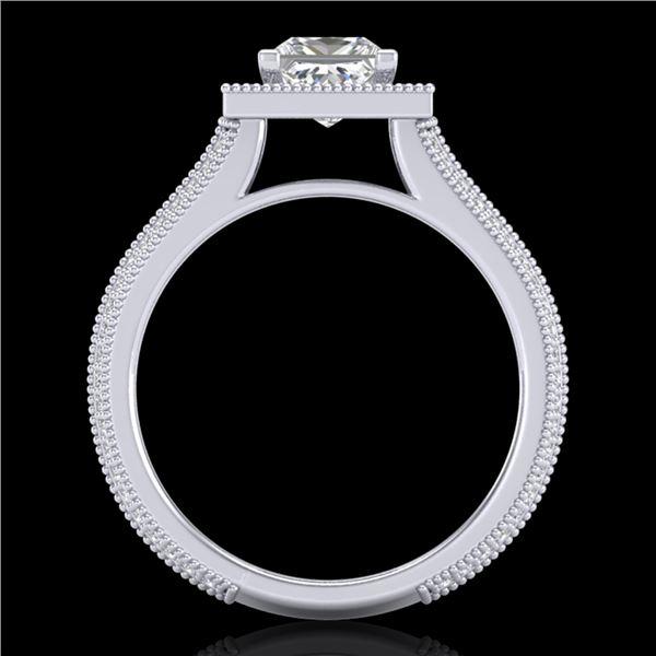 2 ctw Princess VS/SI Diamond Solitaire Micro Pave Ring 18k White Gold - REF-472X8A