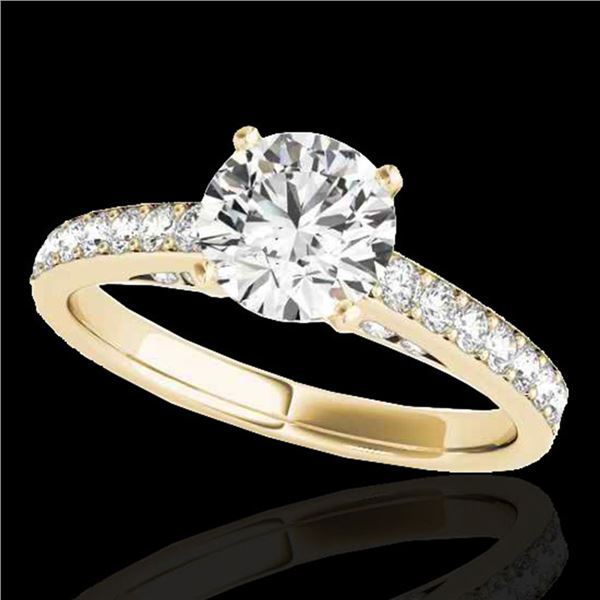 1.5 ctw Certified Diamond Solitaire Ring 10k Yellow Gold - REF-184X3A