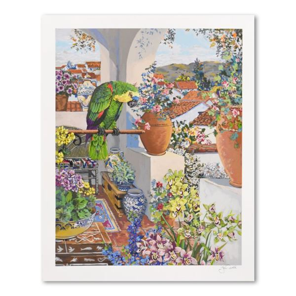 """John Powell """"Parrot & Rooftops"""" Limited Edition Serigraph on Paper"""