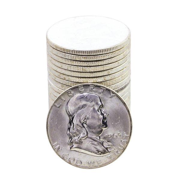 Roll of (20) Brilliant Uncirculated 1963-D Franklin Half Dollar Coins