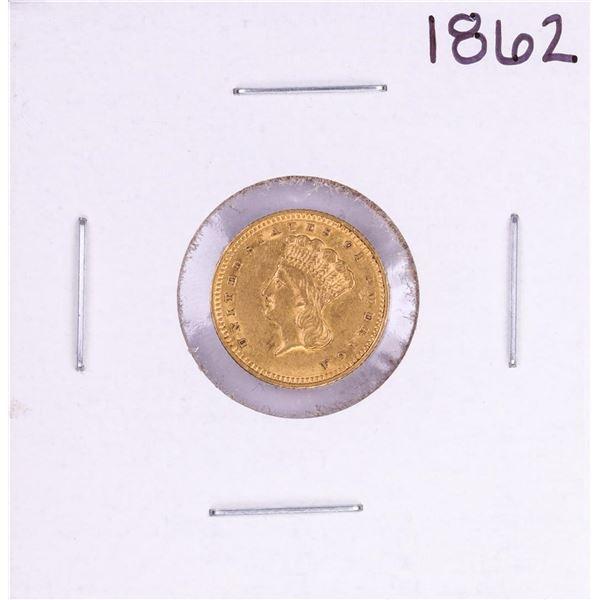 1862 $1 Indian Princess Head Gold Dollar Coin