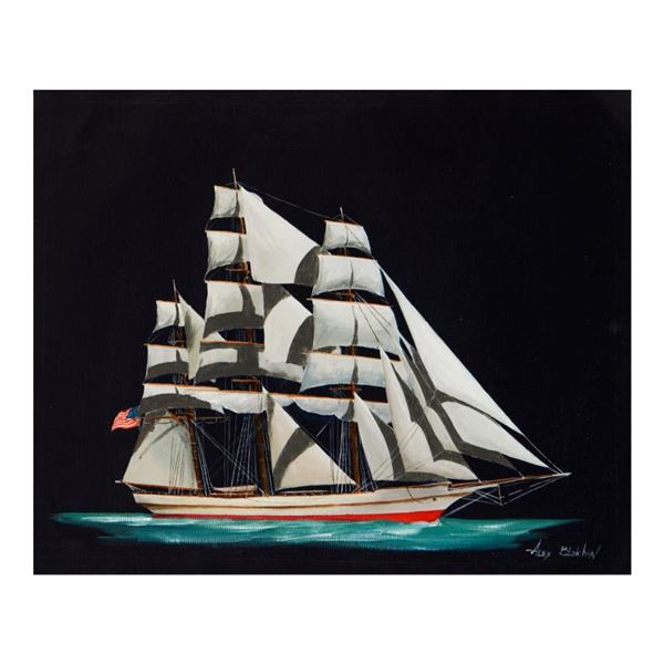 "Blokhin ""American Clipper"" Original Oil on Canvas"