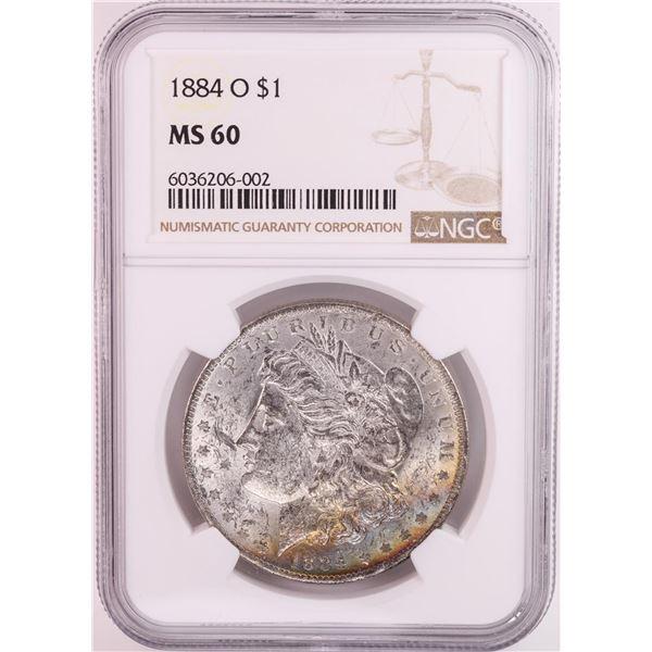 1884-O $1 Morgan Silver Dollar Coin NGC MS60 Great Toning