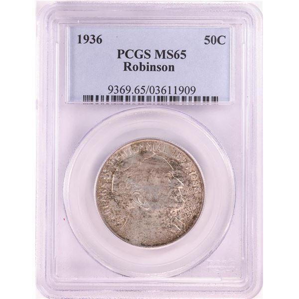 1936 Robinson Centennial Commemorative Half Dollar Coin PCGS MS65