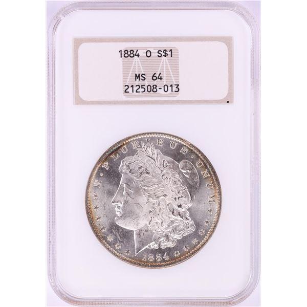 1884-O $1 Morgan Silver Dollar Coin NGC MS64 Nice Toning