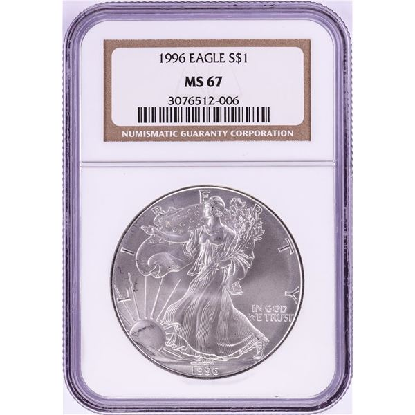 1996 $1 American Silver Eagle Coin NGC MS67