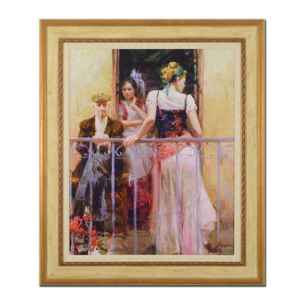 "Pino (1939-2010) ""Family Time"" Limited Edition Giclee On Canvas"