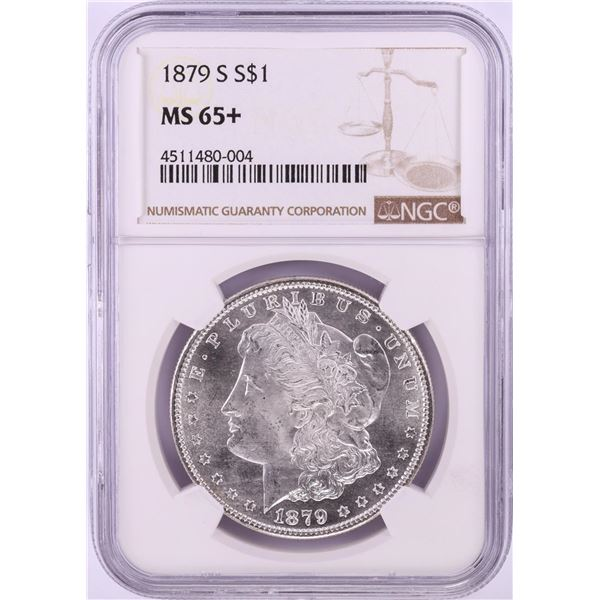 1879-S $1 Morgan Silver Dollar Coin NGC MS65+