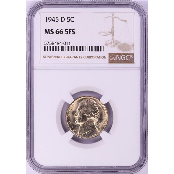 1945-D Jefferson Nickel Coin NGC MS66 5FS