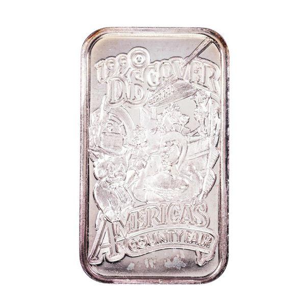 1990 L.A. County Fair Montclair, CA Limited Edition 1oz .999 Fine Silver Art Bar