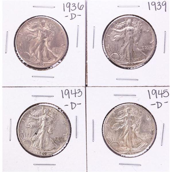 Lot of (4) Walking Liberty Half Dollar Coins