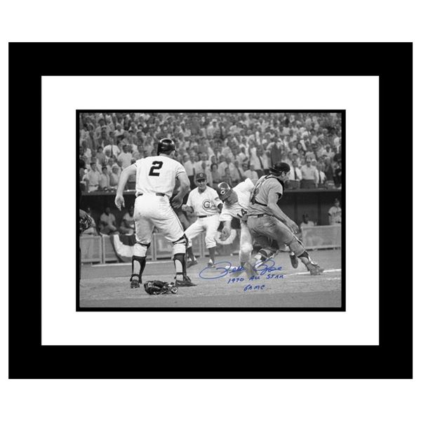 """Pete Rose """"Pete Rose - Fosse Collision"""" Framed Archival Photograph"""
