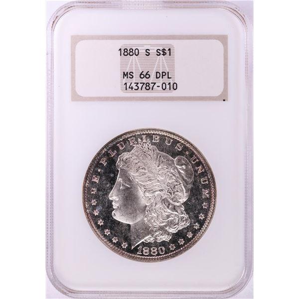 1880-S $1 Morgan Silver Dollar Coin NGC MS66 DPL