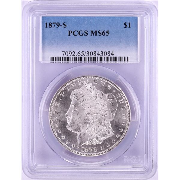 1879-S $1 Morgan Silver Dollar Coin PCGS MS65
