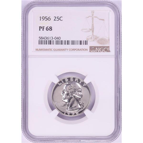 1956 Proof Washington Quarter Coin NGC PF68