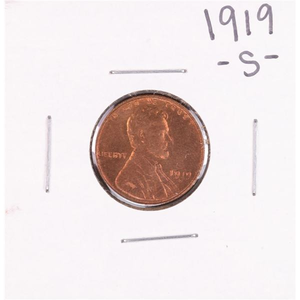 1919-S Lincoln Wheat Cent Coin