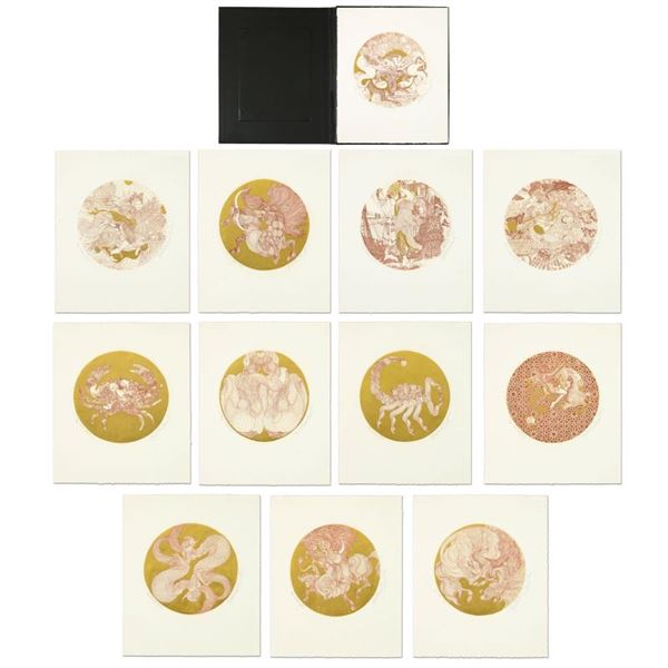 """Guillaume Azoulay """"Zodiac Suite"""" Limited Edition Etching on Paper"""