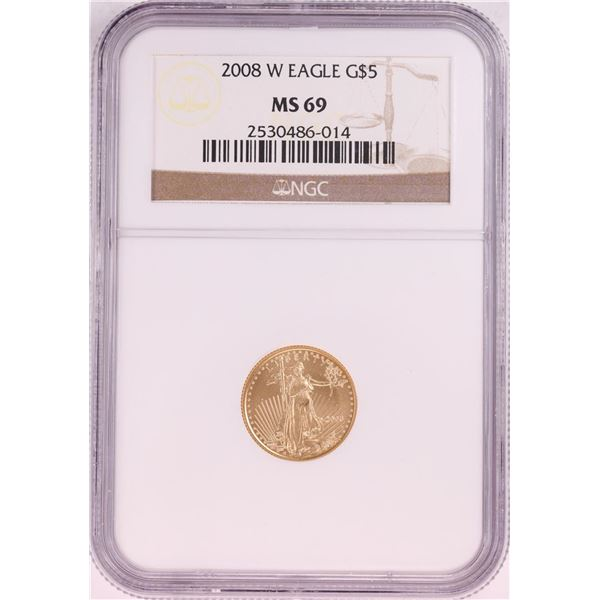 2008-W $5 American Gold Eagle Coin NGC MS69