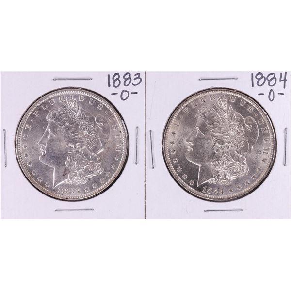 Lot of 1883-O & 1884-O $1 Morgan Silver Dollar Coins