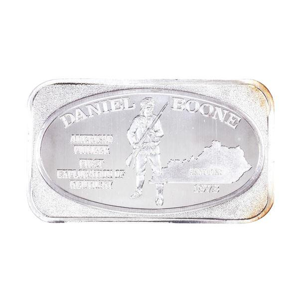 1973 U.S. Silver Corporation Daniel Boone 1oz .999 Fine Silver Art Bar