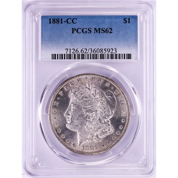 1881-CC $1 Morgan Silver Dollar Coin PCGS MS62