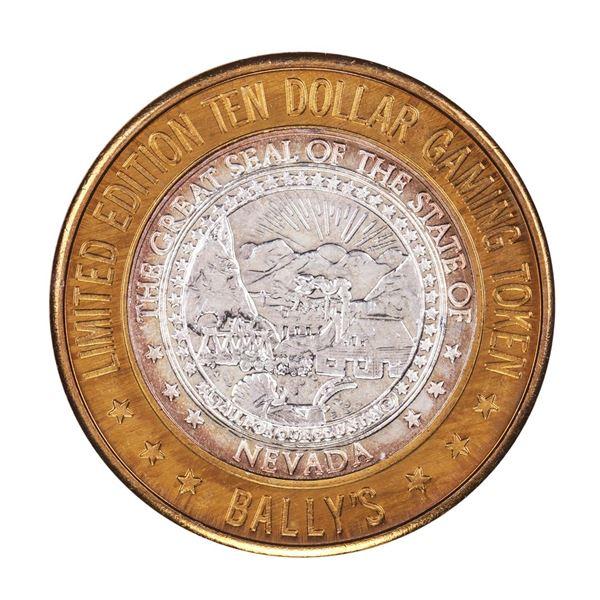 .999 Silver Ballys Las Vegas, Nevada $10 Casino Limited Edition Gaming Token