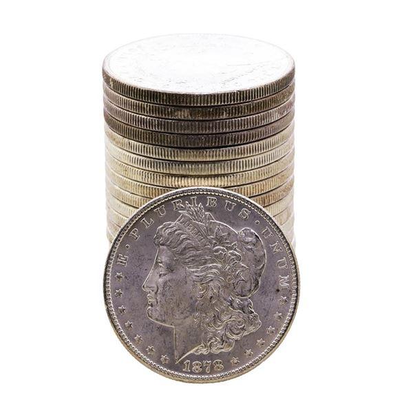 Roll of (20) Brilliant Uncirculated 1878-S $1 Morgan Silver Dollar Coins