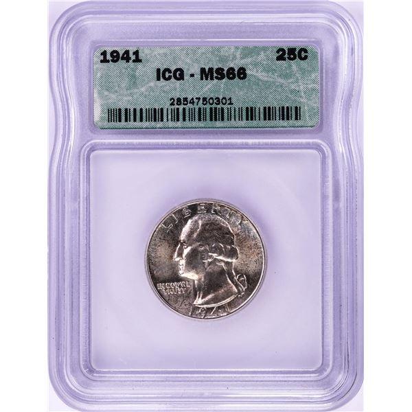 1941 Washington Quarter Coin ICG MS64