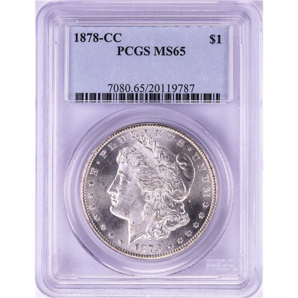 1878-CC $1 Morgan Silver Dollar Coin PCGS MS65