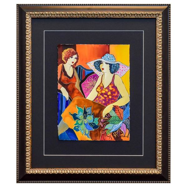 """Govezensky """"Mary and Margo"""" Original Watercolor on Paper"""