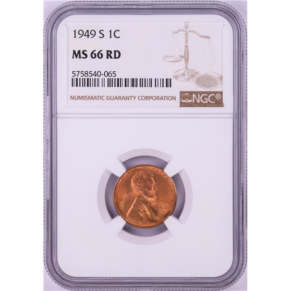 1949-S Lincoln Wheat Cent Coin NGC MS66RD