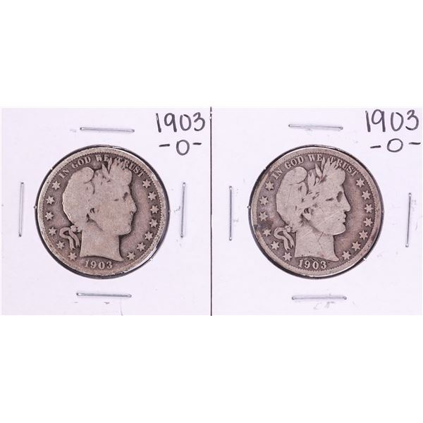 Lot of (2) 1903-O Barber Half Dollar Coins