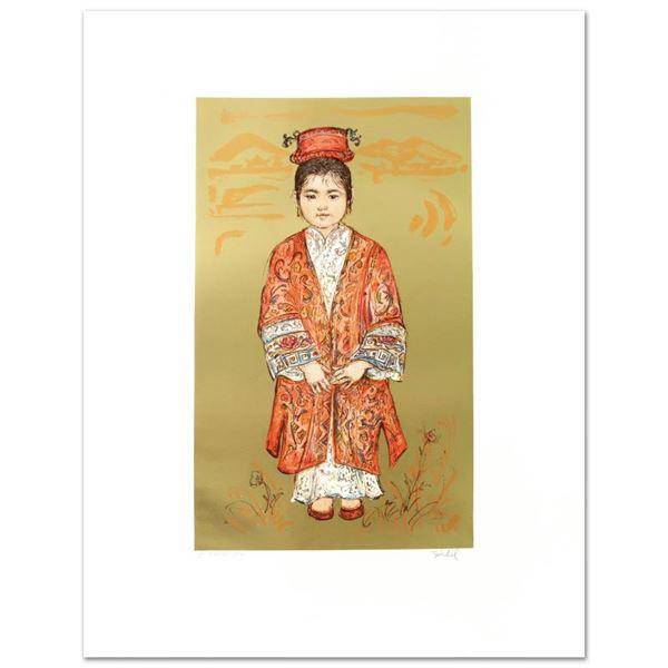"Edna Hibel (1917-2014) ""Sun Ming Tsai of Beijing"" Limited Edition Lithograph"