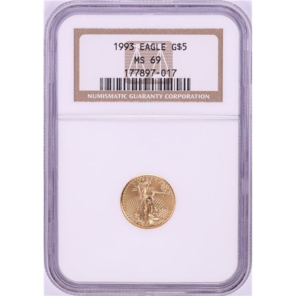 1993 $5 American Gold Eagle Coin NGC MS69
