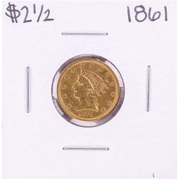 1861 $2 1/2 Liberty Head Quarter Eagle Gold Coin - Soldered
