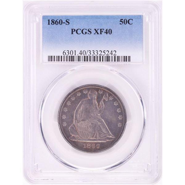 1860-S Seated Liberty Half Dollar Coin PCGS XF40