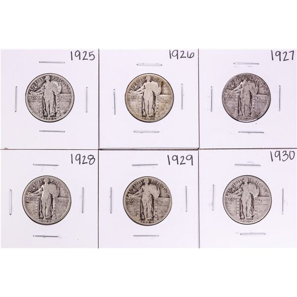 Lot of 1925-1930 Standing Liberty Quarter Coins