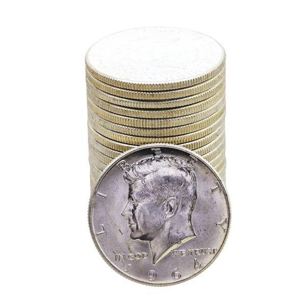 Roll of (20) Brilliant Uncirculated 1964-D Kennedy Half Dollar Coins