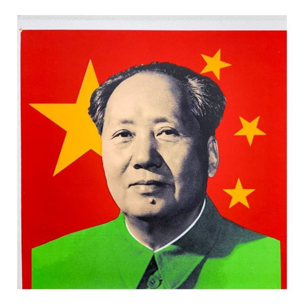 "Steve Kaufman (1960-2010) ""Chairman Mao"" Original Mixed Media on Canvas"