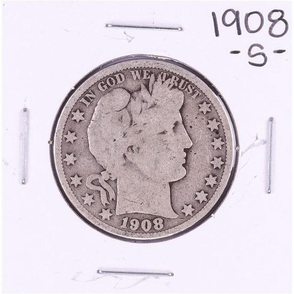1908-S Barber Half Dollar Coin