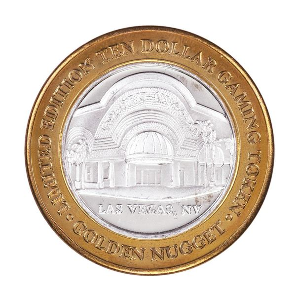 .999 Silver Golden Nugget Las Vegas, Nevada $10 Casino Limited Edition Gaming Token