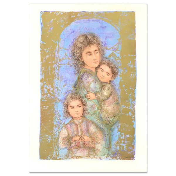 """Edna Hibel (1917-2014) """"Catherine and Children"""" Limited Edition Lithograph"""