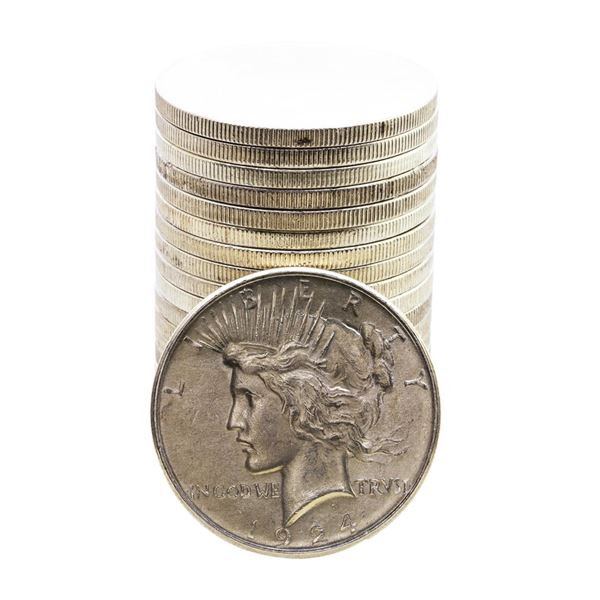 Roll of (20) 1924 $1 Peace Silver Dollar Coins