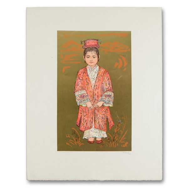 "Edna Hibel (1917-2014) ""Sun Ming Tsai of Beijing"" Limited Edition Lithograph"