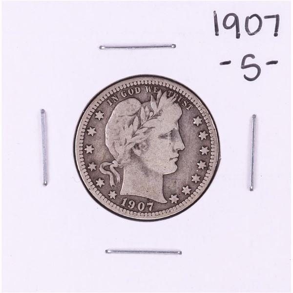 1907-S Barber Quarter Coin