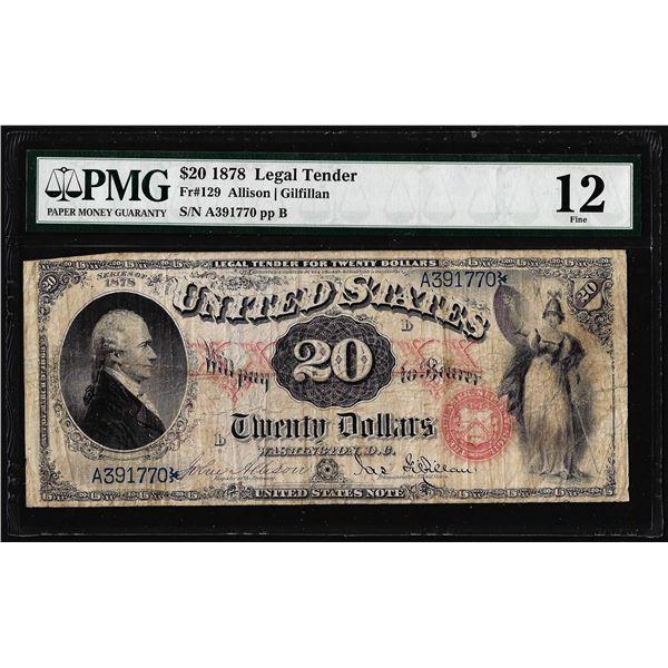 1878 $20 Legal Tender Note Fr.129 PMG Fine 12